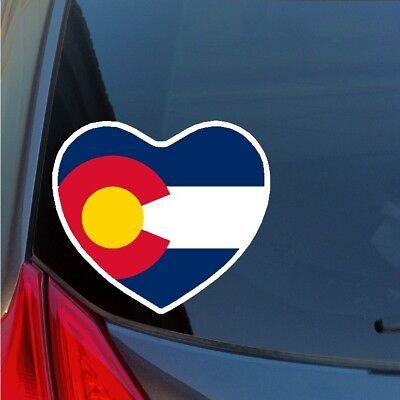 Colorado Heart - Colorado heart sticker skiing snowboarding Rocky Mountains Breck Aspen Vail CO