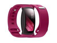 Samsung Gear Fit 2 Black + Pink strap