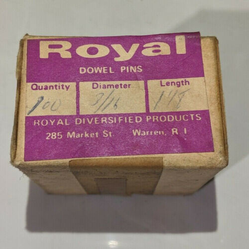 """Pack of 100 - 3/16"""" x 1-1/8"""" Royal Dowel Pins Alloy Steel"""