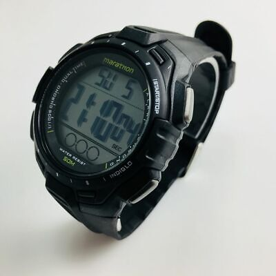 Men's Timex Full Size Marathon Digital Black Resin Watch TW5K94800