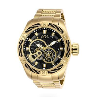 Invicta Bolt 26775 Men's Round Black & Gold Tone Automatic 12 & 24 Hr Watch