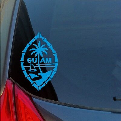 Guam Island Vinyl Sticker Decal Pacific Seal Islander Marianas Wwii Usa Us Japan
