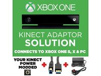 KINECT ADAPTER SOLUTION!!! XBOX ONE S, X & PC (MODIFICATION +USB+Power Supply)