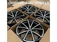 GENUINE AUDI SPORT RS4 V SPOKE A5 S4 ALLOY WHEELS!!