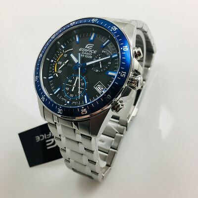 Men's Casio Edifice Chronograph Steel Watch EFV540D-1A2 EFV-540D-1A2VCF