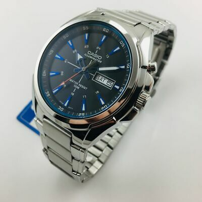 Men's Casio Illuminator Day-Date Stainless Steel Watch MTPE200D-1A2