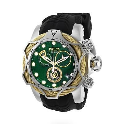 Invicta Reserve Venom 27710 Men's Green Dial Chronograph Black Silicone Watch