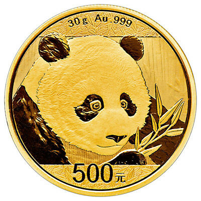 Daily Deal! 2018 China 30 g Gold Panda ¥500 Coin GEM BU Mint Sealed SKU51049