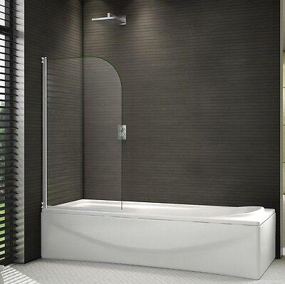 800x1400mm Chrome 180° Pivot Radius 6mm Glass Over Bath Shower Screen Door Panel