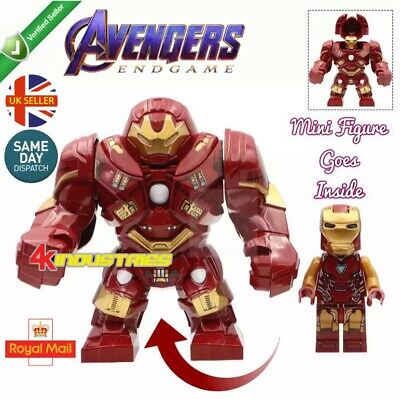 Avengers Iron Man Red Hulk Buster Mini Figure End Game Marvel Mk85 UK Seller