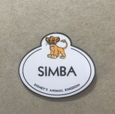 Disney Pin  WDW Cast Member Nametag Lion King Simba Limited Edition