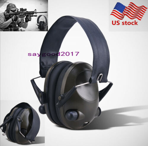 Folding Electronic Ear Muffs Hearing Noise Protection Shooti