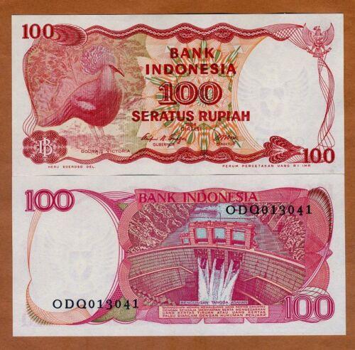 Indonesia, 100 Rupiah, 1984, P-122, UNC > Crowned Pigeon