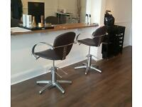 Salon furniture chairs and rem cabinets