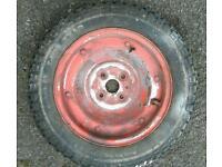 Vespa 90 small frame original wheel & new tyre