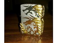 Double golden dragon zippo