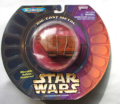 Star Wars Titanium Galoob Micro machines jawa sandcrawler  MIP die cast  314