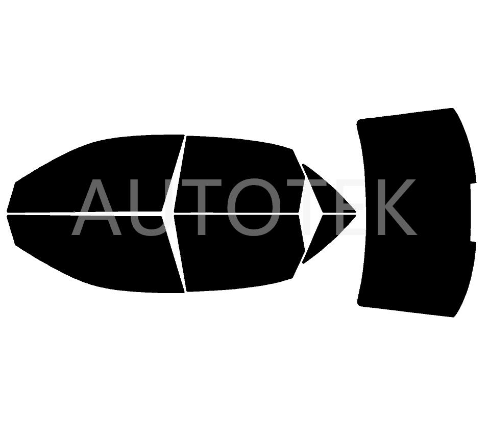 PreCut All Sides + Rear Window Film Any Tint Shade % for Audi A4 Sedan 2002-2008