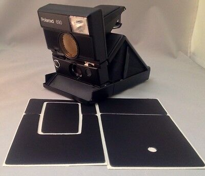 Polaroid SLR680 PolaSkinz Full Grain Napa Leather Black Replacement Skin SX70