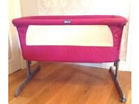 Chico Next To Me Crib/Cot Pink EXCELLENT CONDITION