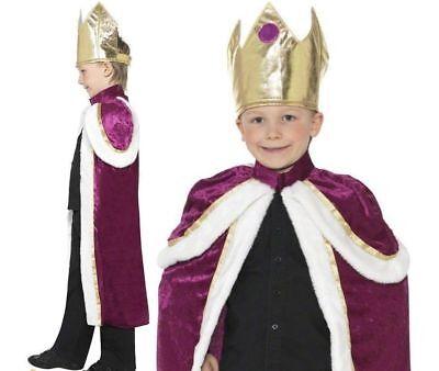 Kinder Kiddy König Robe Weihnachten Krippenspiel Jungen Royalty Kostüm ()