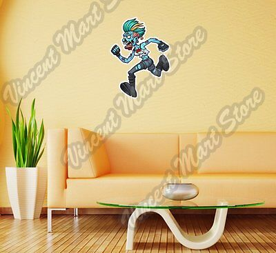 Angry Zombie Girl Running Scary Gift  Wall Sticker Room Interior Decor 19