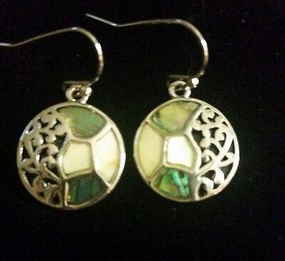 Connemara Marble Jewelry Delicate Dangle Earrings With Beautiful Filigree Design