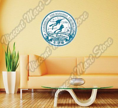 The Bahamas Caribbean Country Vintage Wall Sticker Room Interior Decor 22