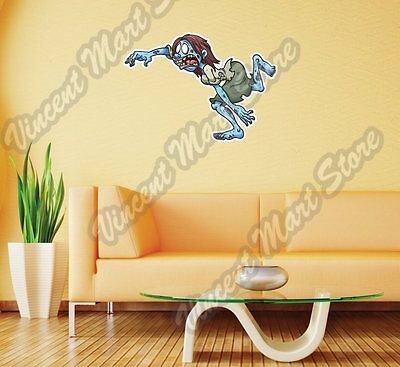 Angry Zombie Girl Running Scary Funny  Wall Sticker Room Interior Decor 25