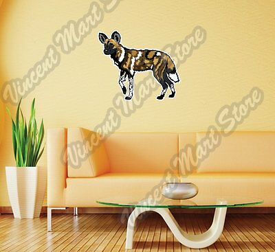(African Wild Painted Dog Africa Wall Sticker Room Interior Decor 25