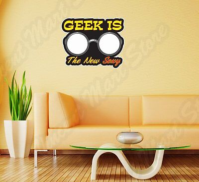 Geek Is New Sexy Nerd Glasses Funny Wall Sticker Room Interior Decor - Nerd Room Decor