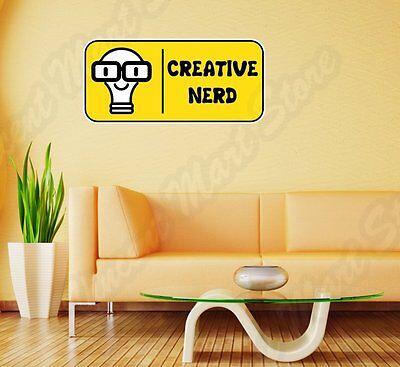 Creative Nerd Geek Idea Think Funny Wall Sticker Room Interior Decor - Nerd Room Decor