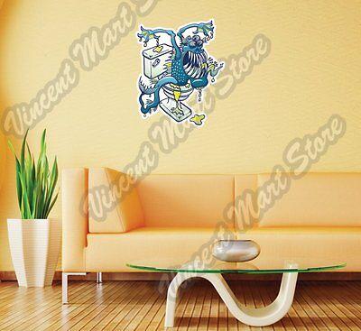 "Aquatic Blue Monster Toilet Plumbing Wall Sticker Room Interior Decor 20""X25"""