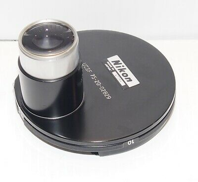 Nikon 0.4 Na Turret Condenser For Older Black Inverted Microscope