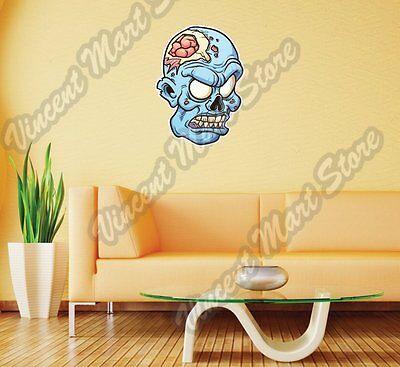 Zombie Head Monster Dead Body Gift Idea Wall Sticker Room Interior Decor - Zombie Decorations Ideas