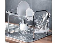 2 tier chrome dish rack