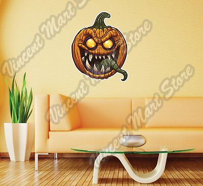 Evil Pumpkin Halloween Night Gift Idea Wall Sticker Room Interior Decor 22