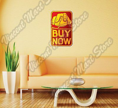 "Online Shopping Hand On Mouse Buy Wall Sticker Room Interior Decor 18""X25"""