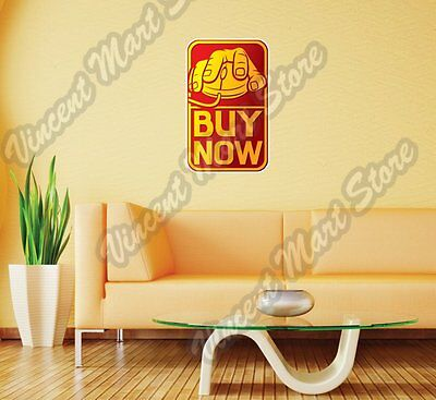 Online Shopping Hand On Mouse Buy Wall Sticker Room Interior Decor 18