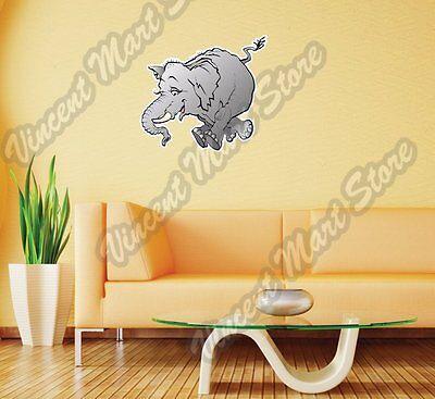 Happy Jumping Elephant Cartoon Gift Wall Sticker Room Interior Decor 22