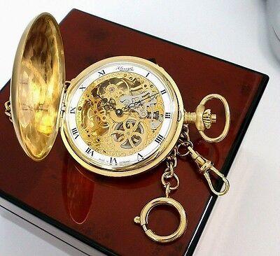KIENZLE Mech.Taschenuhr, Savonette/ Doppelseitiger Sprungdeckel & Uhrenkette