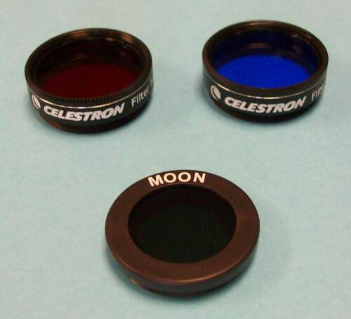 """Celestron 3pc Filter Set For 1.25"""" Telescope Eyepiece - Also Fits Orion & Meade"""