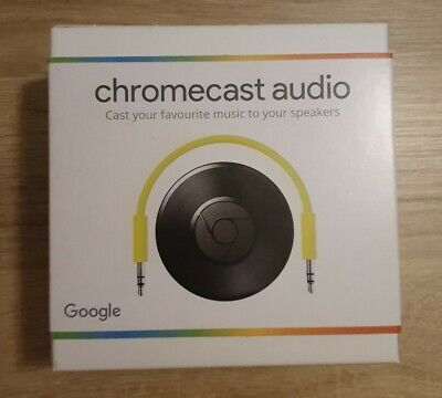 Google Chromecast Audio 2nd Generation Media Streamer - Black - Sealed New UK