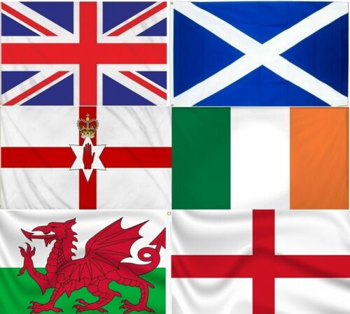 Large 5ft x 3ft National Flag Union Jack Great Britain Ireland Scotland Wales