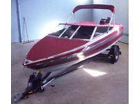 1989 MAXUM MARINE US MARINE BOW RIDER BOAT, MOTOR, TRAILER 17.9 FT