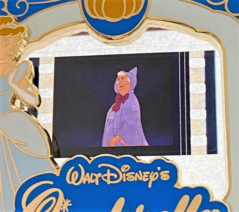 A Piece of Disney Movies History Cinderella Godmother LE 2000 Film Cell Pin