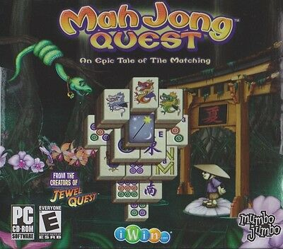 Computer Games - Mah Jong Quest 1 PC Games Windows 10 8 7 XP Computer puzzle mahjong jewel quest