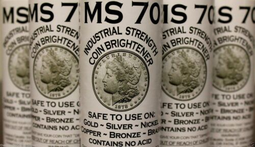 MS70 Coin Brightener Solution MS-70 Gold Silver Copper Nickel Shine Brighten 8oz