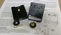 2- Radio Controlled Atomic Clock Movements NEW for 1/4 Dial w/ choice of Hands