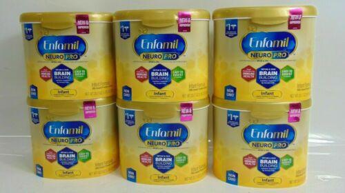 *6x Enfamil Neuro Pro Infant Formula w/Iron, Non-GMO - 20.7oz Tubs  EXP  10/2020